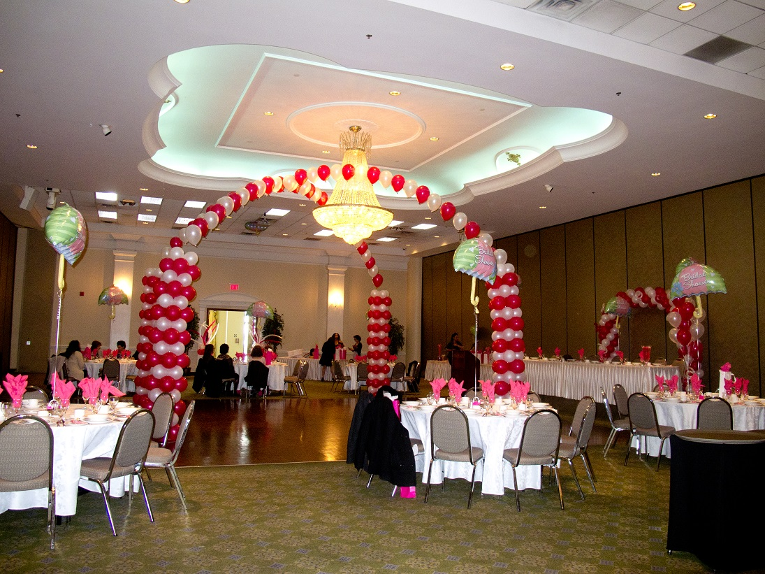 Banquet hall decor creart personalizados for Hall decoration design